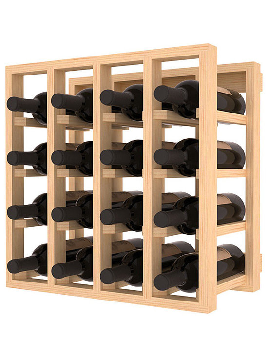 Lattice Stacking Wine Cubicle in Pine - Designed to stack one on top of the other for space-saving wine storage our stacking cubes are ideal for an expanding collection. Use as a stand alone rack in your kitchen or living space or pair with the 20 Bottle X-Cube Wine Rack and/or the Stemware Rack Cube for flexible storage.