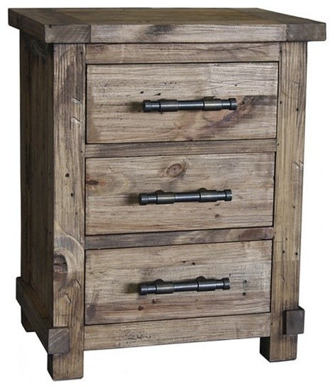 Country nightstand industrial nightstands and bedside tables other metr - Table de nuit industrielle ...