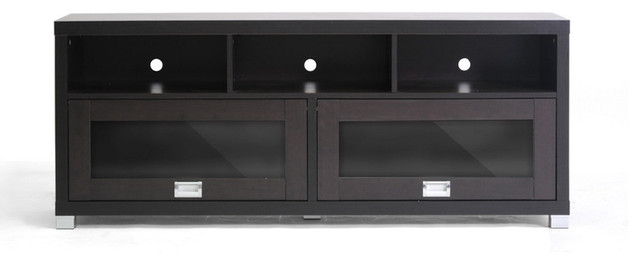 Swindon Modern TV Stand with Glass Doors contemporary-media-storage