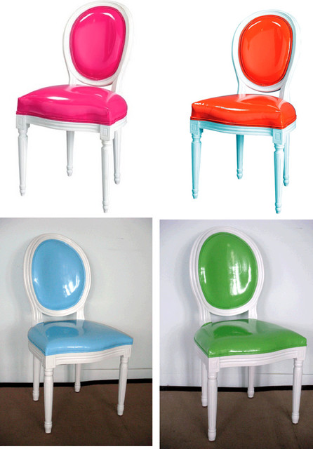 Pop Louis Side Chairs eclectic-dining-chairs