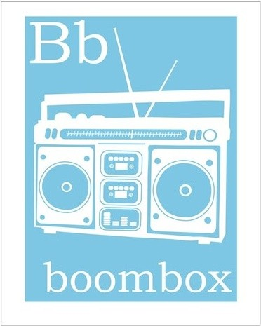 B Is For Boombox Print By Finny And Zook contemporary-nursery-decor