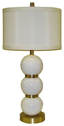 Paloma White Ceramic Lamp, Ceramic Lamps contemporary-table-lamps