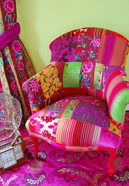 Pushkar Chair eclectic living room