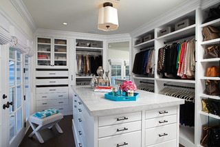 closet floor plans will show you if you have space for an island