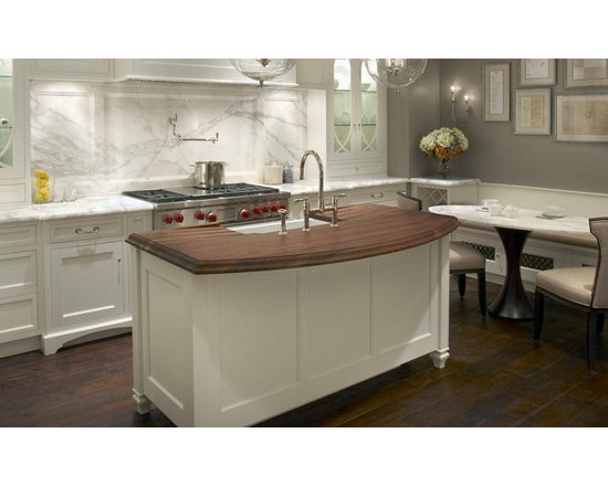 Walnut Countertop Island with Sink - http://www.glumber.com/