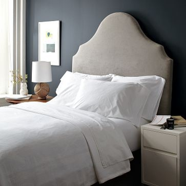 scroll headboard west elm eclectic headboards by west elm