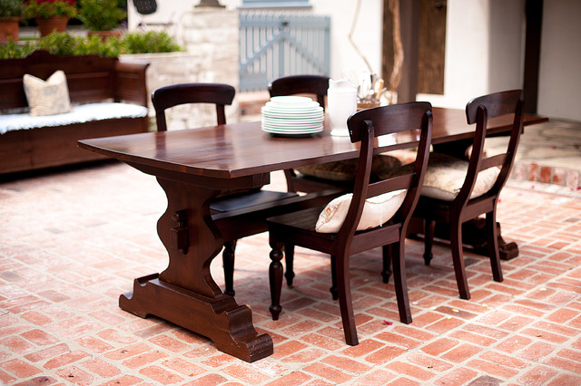 Tremaine Trestle Table with Cathleen Chairs by Bradshaw Kirchofer traditional-dining-room
