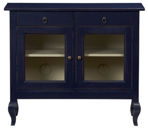 Calais Navy Cabinet - Contemporary - Storage Cabinets - by ...