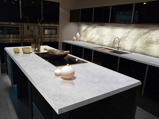 White Ice Onyx Kitchen - Contemporary - Kitchen Countertops - miami - by Crystaline Stone