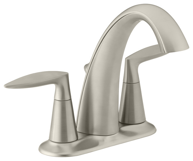 KOHLER K 45100 4 BN Alteo Centerset Bathroom Sink Faucet Contemporary Bat