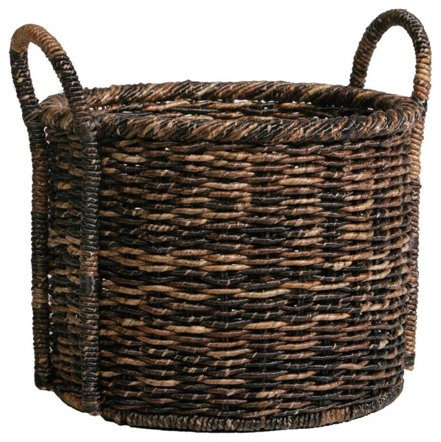 woven madras floor basket traditional baskets