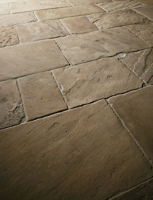 Coursed Antique English Reclaimed Stone Tiles Traditional Floor Tiles