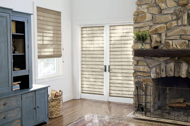 Smith and noble natural woven waterfall shades for Smith and noble bamboo shades