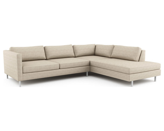Mota Wedge Open Sectional - Customize this piece as part of a larger sectional. The other pieces are on the collection page that you can add after finishing this one. Or, you can use this piece on its own if desired.The Mota sectional represents a very balanced, sophisticated version of modern furniture. It feels at once established and fresh.Viesso designs and manufactures this piece of modern furniture. All of the sectional sofas from the Viesso line are built one at a time in Los Angeles in 3 weeks. With all the custom options available, they are truly built for you and your space. A custom sofa that's also an eco sofa. Yes, it's that good.