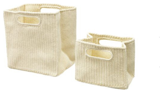 LIDAN Toiletry Bag, Set of 2 contemporary baskets