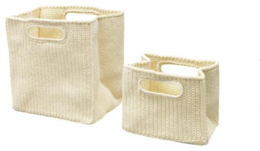 LIDAN Toiletry Bag, Set of 2 contemporary-baskets