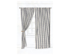 Waving Stripes Curtain - Anthropologie.com eclectic curtains
