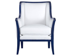 Carly Chair with Cobalt Blue Frame modern armchairs