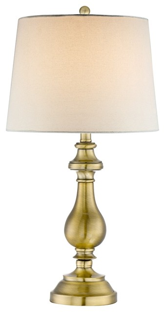 Traditional Brass Candlestick Table Lamp