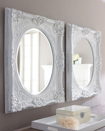 White baroque mirror traditional mirrors by horchow for White baroque style mirror