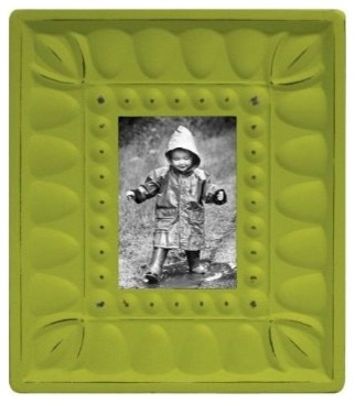 Embossed Fancy Frame - Lime Green eclectic frames