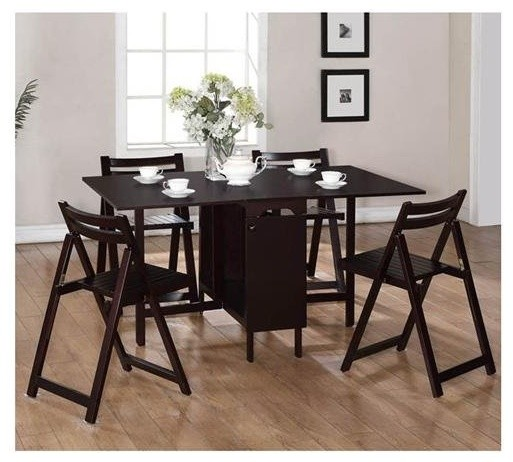Space Saver Dining Room Table: Linon Home Decor 5-Piece Space-Saver Table And Chairs Set