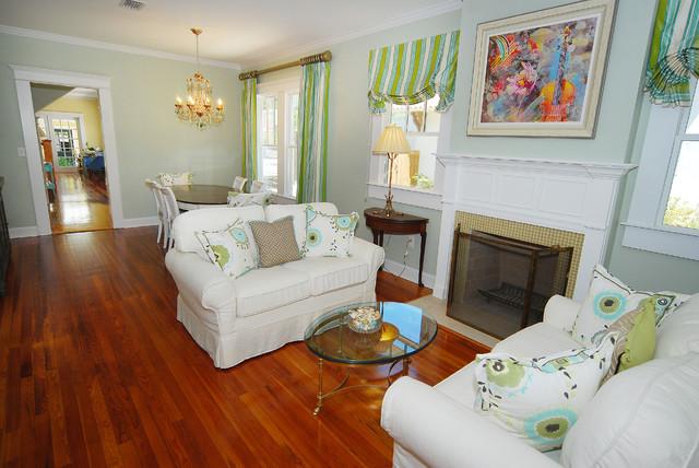 Bayshore Beautiful Bungalow Renovation Living Room traditional-living-room