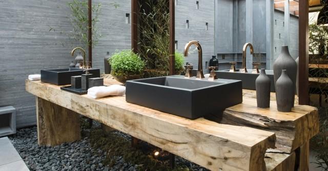 Wood -> Pia Para Banheiro Rustica