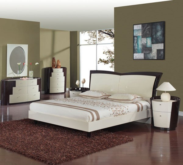 global furniture new york 5 piece king bedroom set in wenge beige new york modern