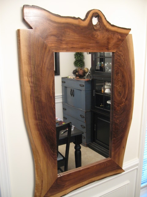 Live edge mirrors eclectic charlotte by crabtree custom