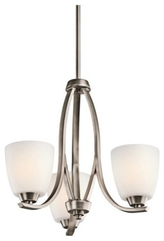 Kichler 42556BPT Granby 3-Light Mini Chandelier - Silver contemporary-chandeliers