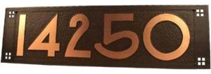 Craftsman Copper Address Plaque with House Numbers traditional-house-numbers