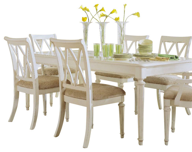American Drew Camden Light 8 Piece Leg Dining Room Set In