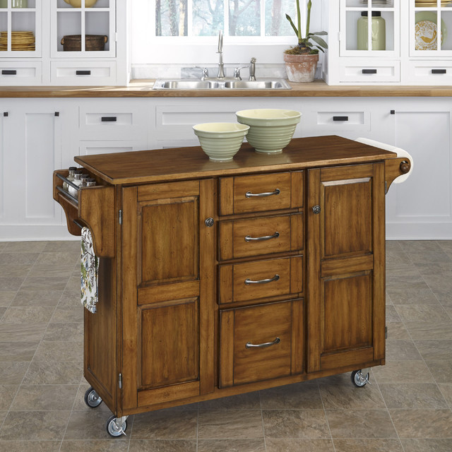 Create a cart oak finish cart contemporary kitchen islands and kitchen carts by - Overstock kitchen islands ...