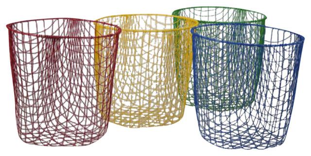 Wire Wastepaper Bin contemporary-wastebaskets