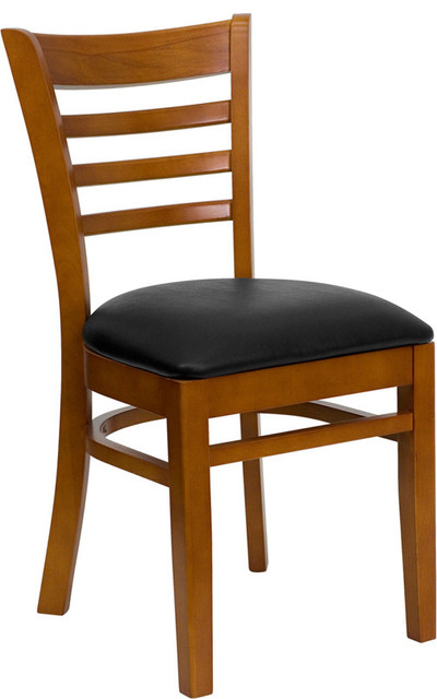 Hercules Series Cherry Finished Ladder Back Wooden Restaurant Chair contemporary-living-room-chairs
