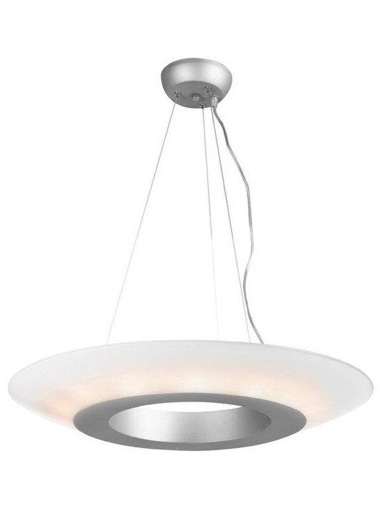 Access Lighting 50129-SAT/OPL Fourteen Light Nickel Up Pendant -
