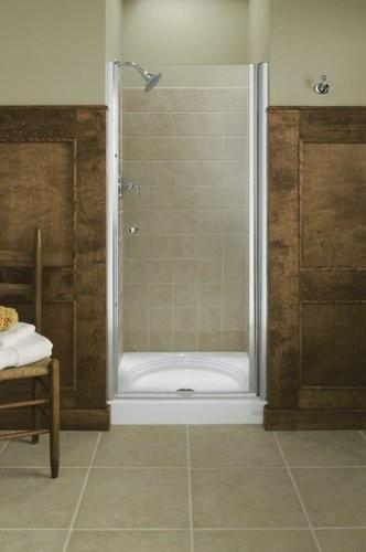 Kohler K-702406-L-SH Bright Silver Fluence Frameless Pivot Shower Door contemporary-windows-and-doors