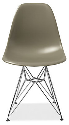 Eames Molded Plastic Chair With Wire Base, Sparrow modern-dining-chairs