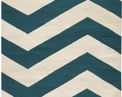 Portia Area Rug II, Teal/Cream contemporary rugs