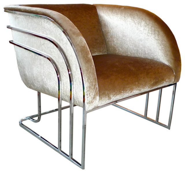 Milo Baughman Chrome Art Deco Club Chair modern-armchairs-and-accent-chairs