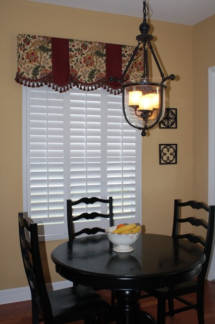 Beautiful breakfast nook windows! contemporary-curtains