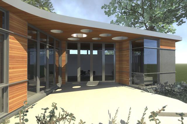Backyard Rendering contemporary-rendering