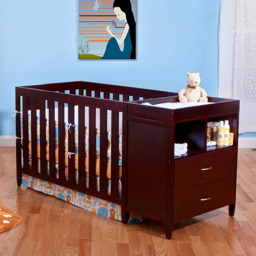 BSF Baby Furniture Austin 4-in-1 Convertible Crib and Changer Combo contemporary-cribs