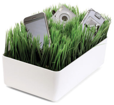 Grass Charging Station White eclectic desk accessories
