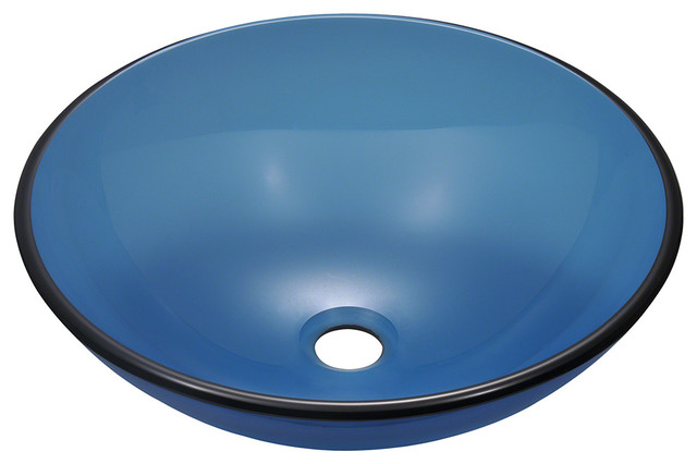 MR Direct 601 Aqua Colored Glass Vessel Sink bathroom-sinks