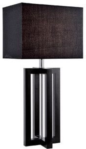 Dore Table Lamp, Wood contemporary-table-lamps