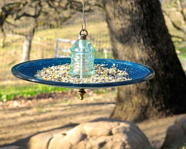 kitchen patio pool yard eclectic bird feeders san
