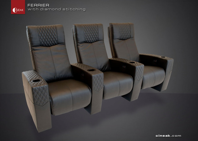 CINEAK Ferrier Luxury Home Theater Seats  armchairs