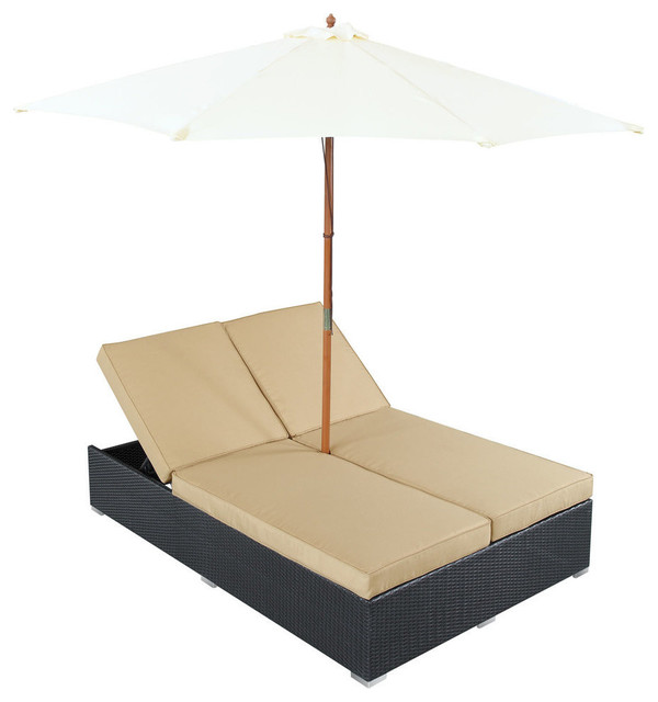 Modway Arrival Chaise in Espresso Mocha contemporary-outdoor-chaise-lounges